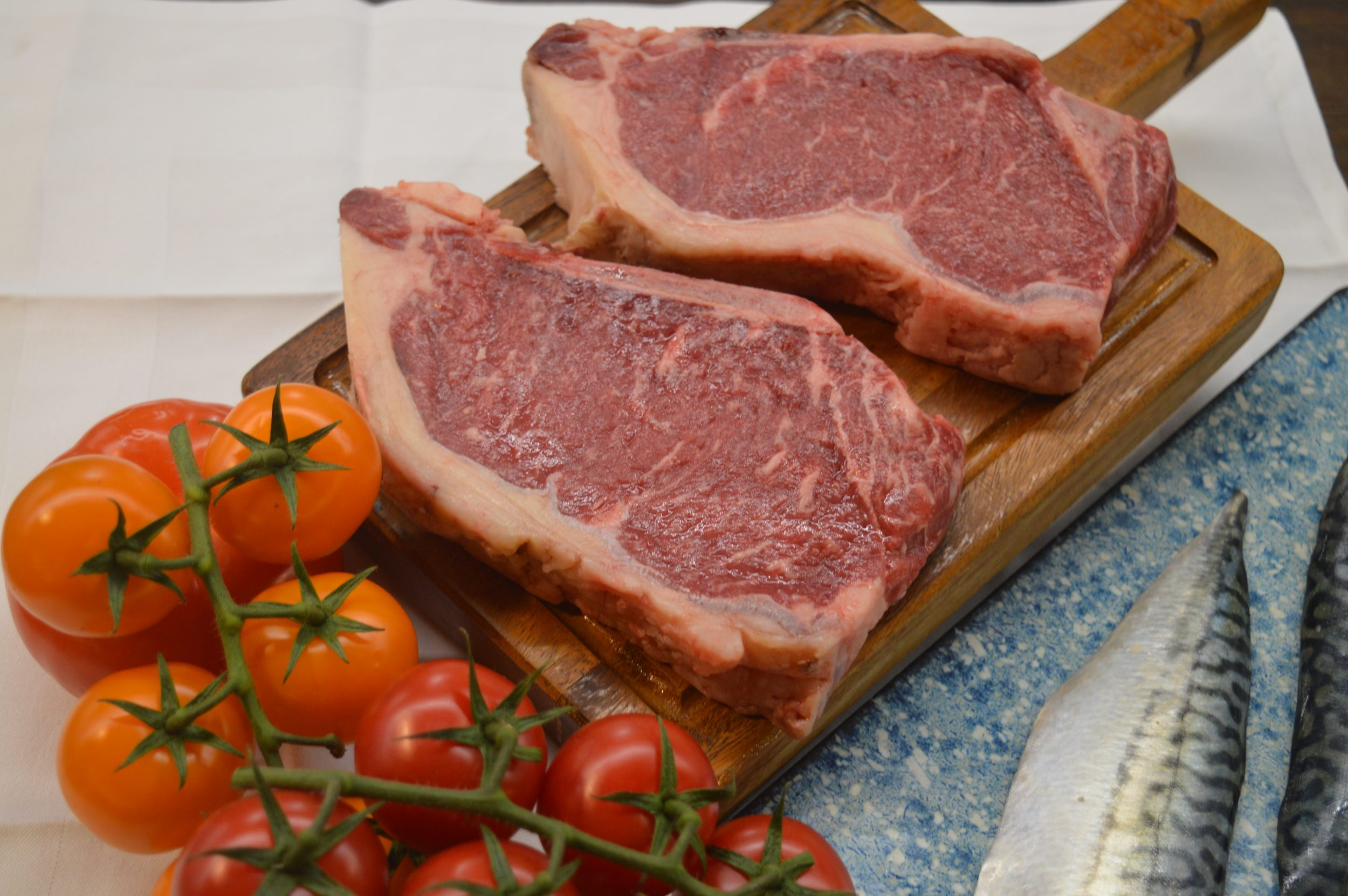 Goose Box steak with tomatoes
